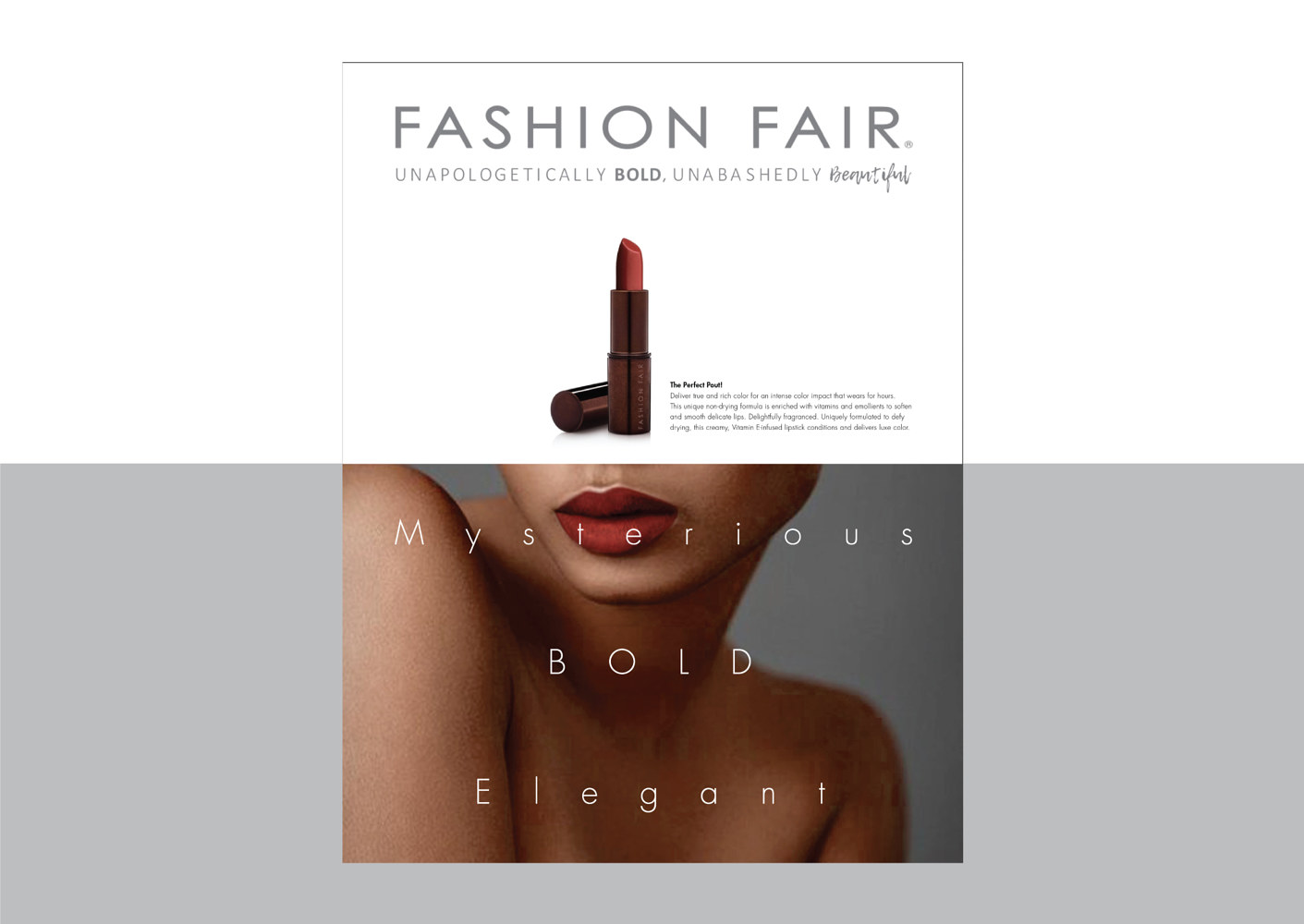 Fashion Fair | Cosmetics | Journal Ad by Nathalie Gribinski