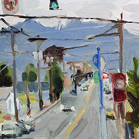 Oil painting Hawthorne Cool by Shawn Demarest