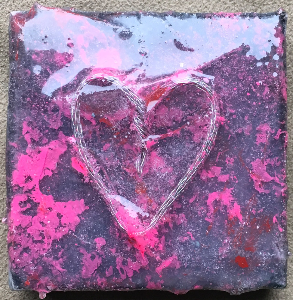 Acrylic painting Tiny Heart by Steven Simmons