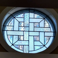 Celtic weave window by John Boyd