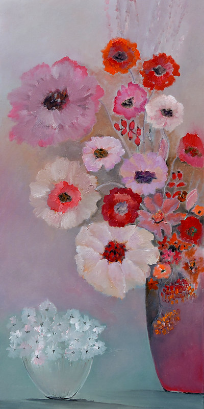 Oil painting Different Mood of Bouquets. by Svetlana Barker