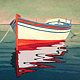 Oil painting The Greek Boat by Jodi Jansons