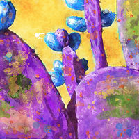 Print MOJAVE CACTUS 26 T by Todd Scott Anderson