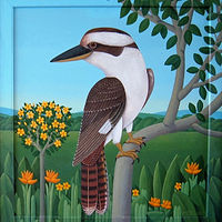 Laughing Kookaburra (Kingfisher) by Adrienne Noble