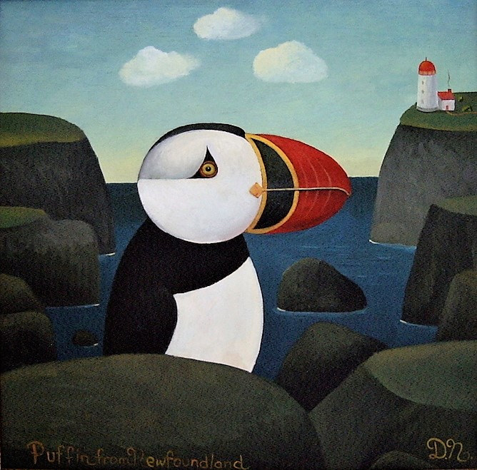 Puffin from Newfoundland by Adrienne Noble