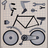 bicycle parts by Adrienne Noble