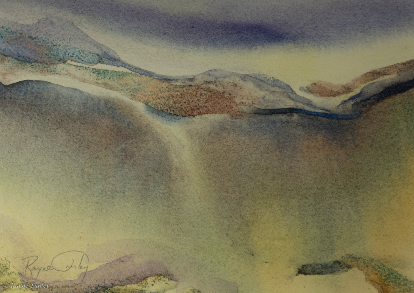 Rayne Tunley, Earth Tone, 7.5in x 10.5in, watercolour by Rayne Tunley