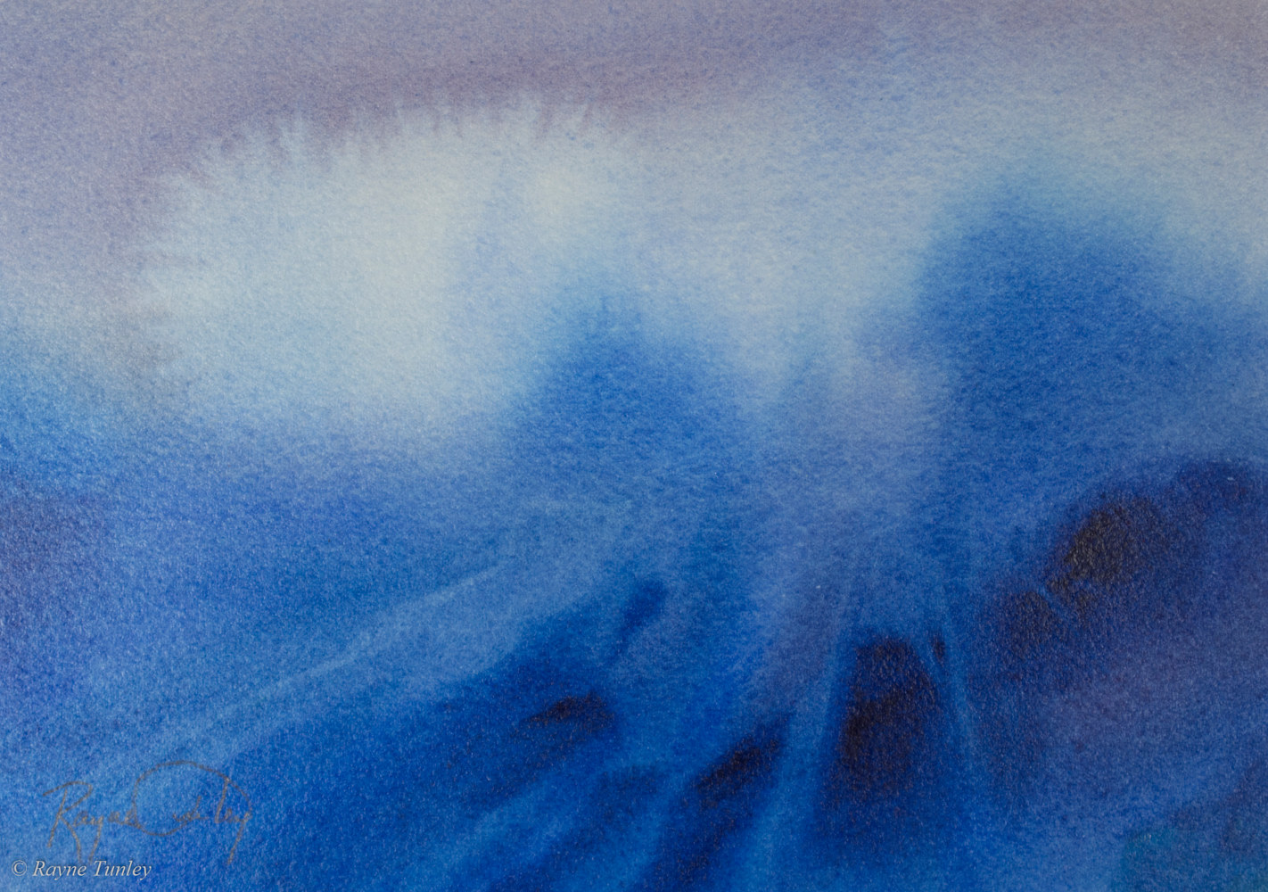 Rayne Tunley, High Tide, 7.5in x 10.5in, watercolour by Rayne Tunley
