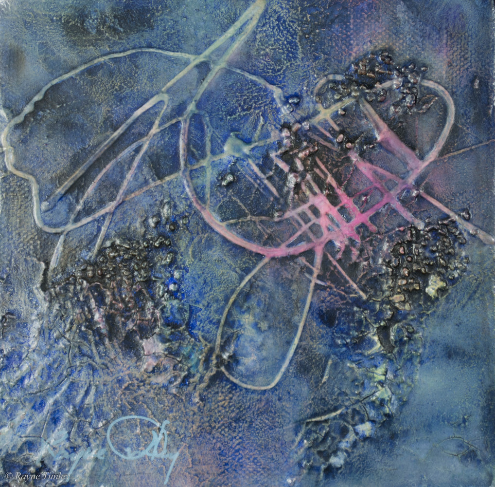 Rayne Tunley, Night Song 1, 6in x 6in, watercolour by Rayne Tunley
