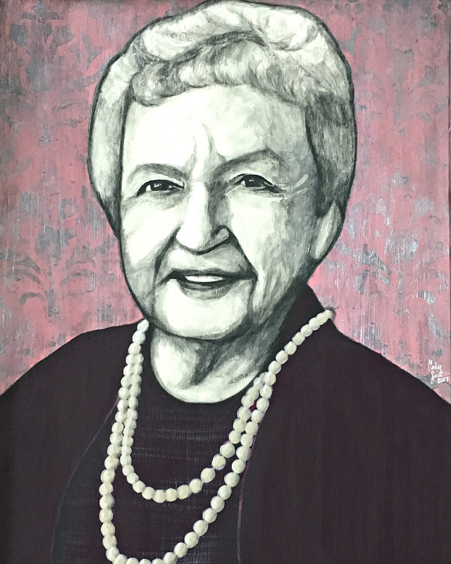 Acrylic painting SWEET GRANDMA MARIE by Carly Jaye Smith