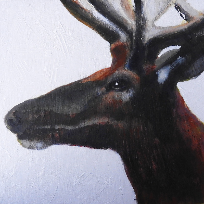 Acrylic painting WAPITI#6 by Edith dora Rey