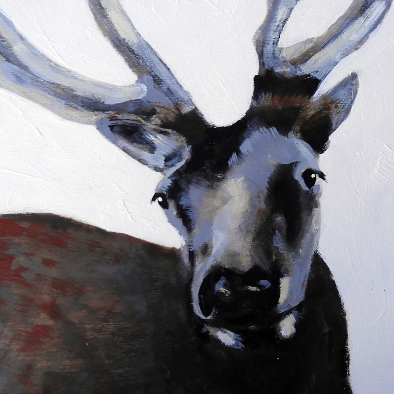 Acrylic painting WAPITI#8 by Edith dora Rey