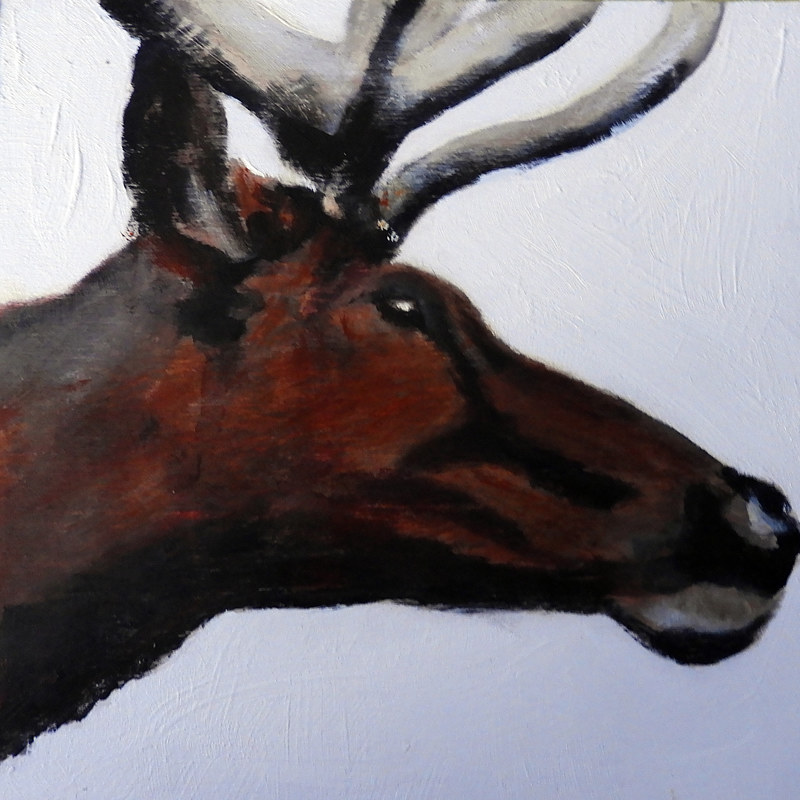 Acrylic painting WAPITI#7 by Edith dora Rey