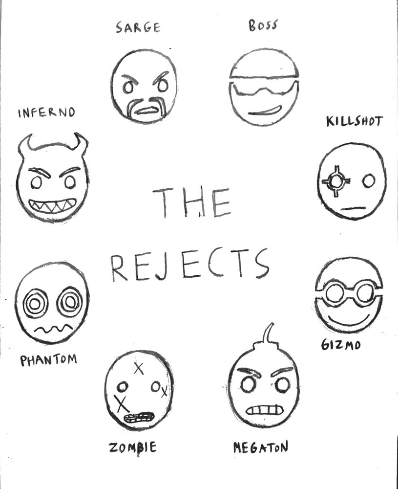 The Rejects - Character Symbols by Jordan Woodard