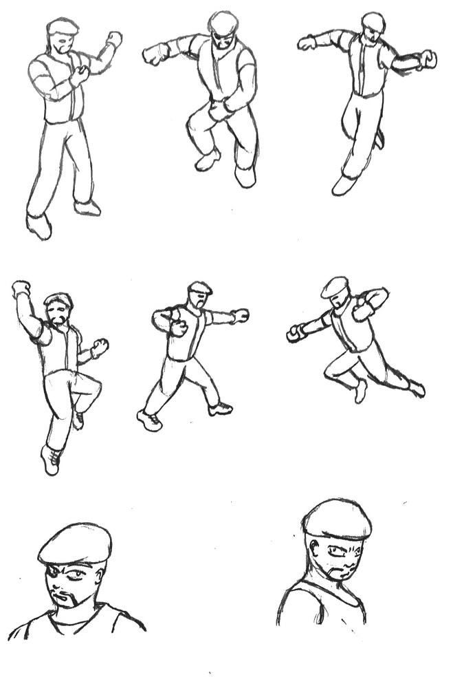 Sarge - Combat Poses by Jordan Woodard