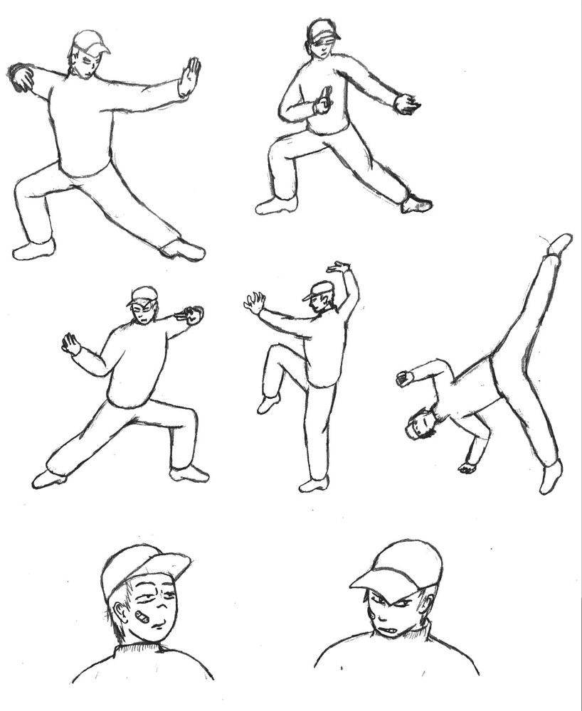 Zombie - Combat Poses by Jordan Woodard