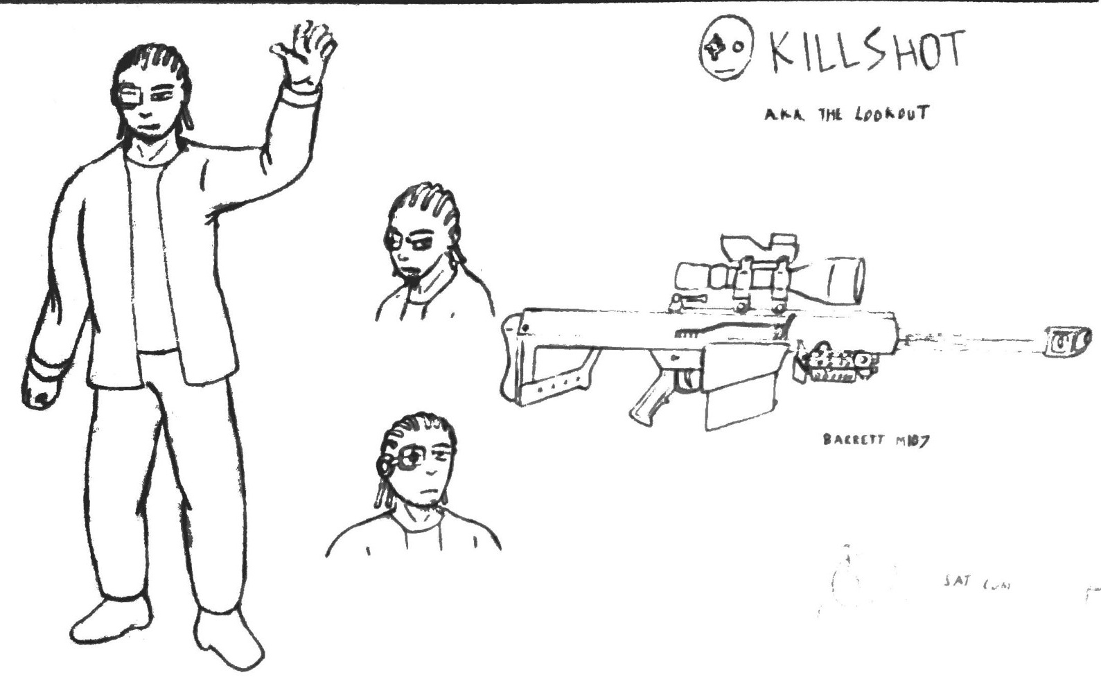 Killshot - Model Sheet by Jordan Woodard