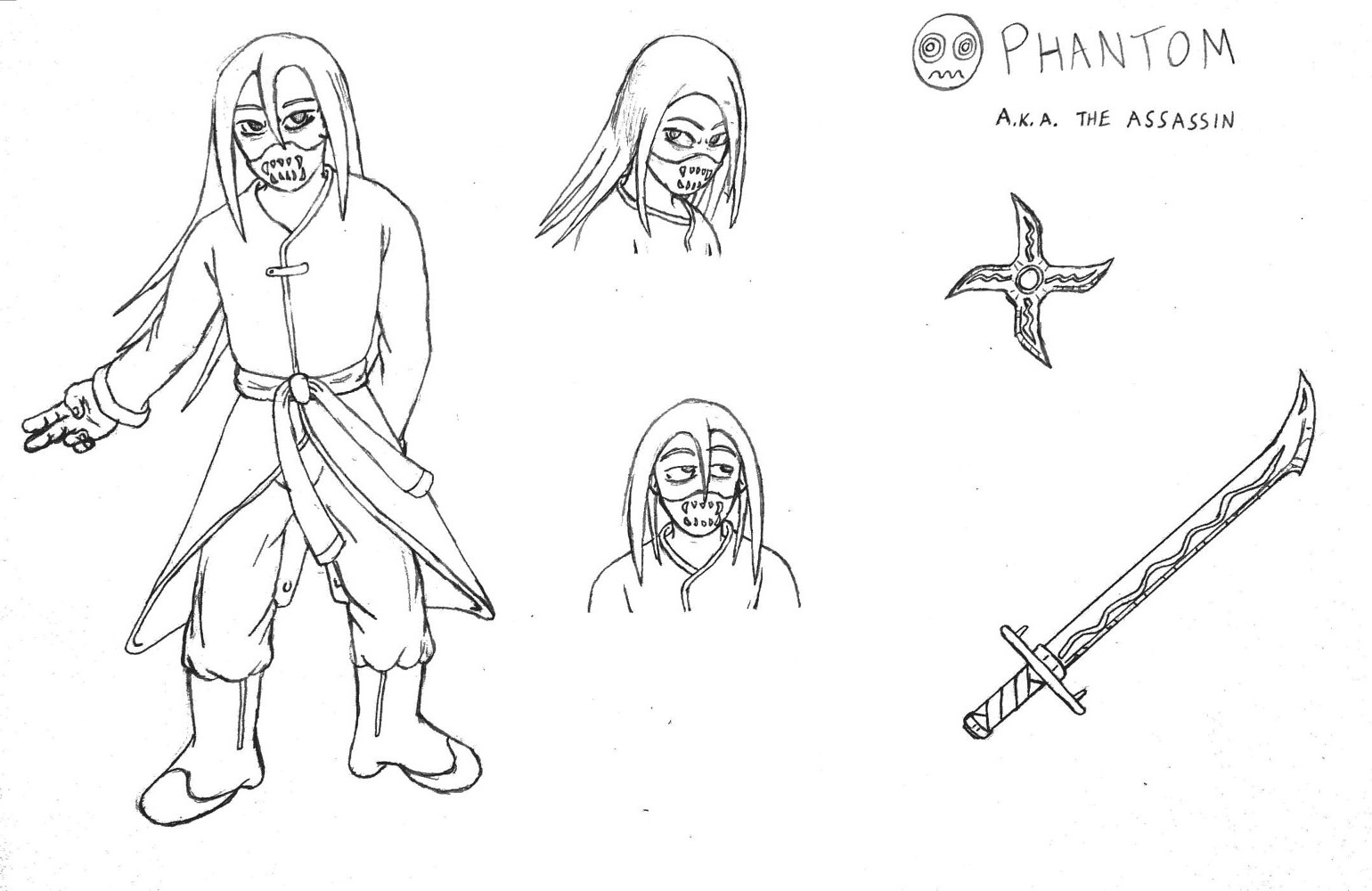 Phantom - Model Sheet by Jordan Woodard