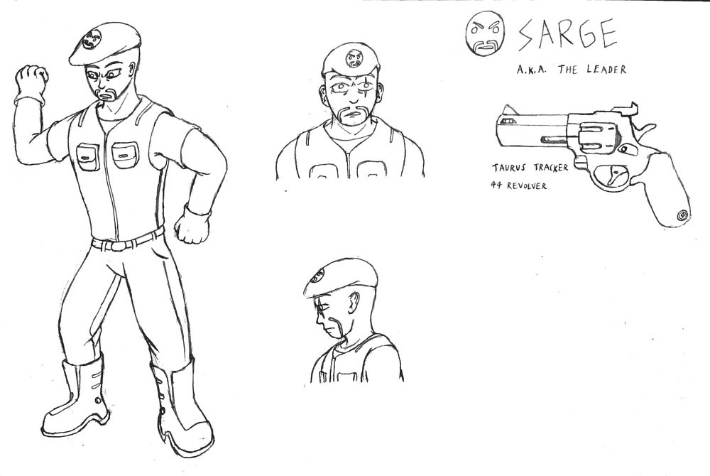 Sarge - Model Sheet by Jordan Woodard