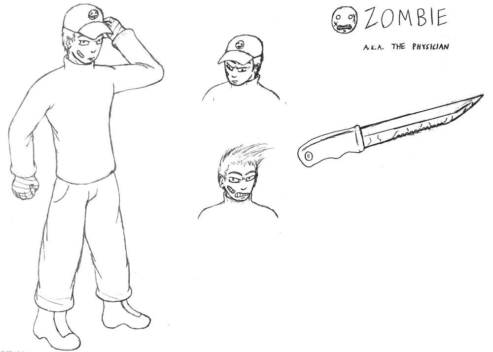 Zombie - Model Sheet by Jordan Woodard