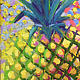Oil painting Ko Ka Hala Kahiki Lanui - The Pineapple's Party/big day by Pamela Neswald