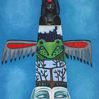Oil painting May Totem by Jane  Zednik