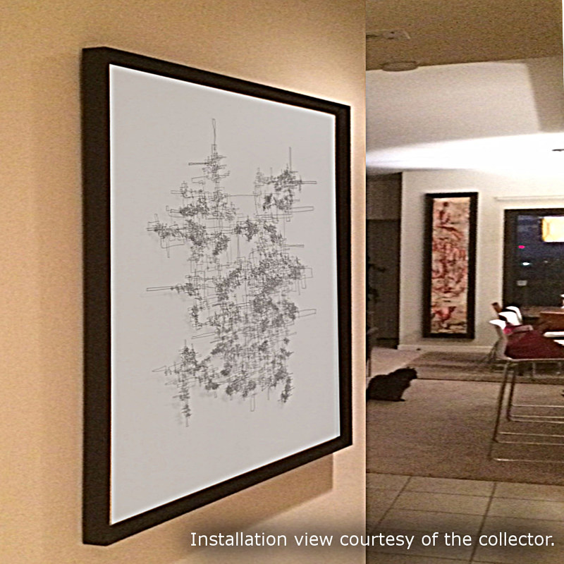 "Photography Collector Image - ""Tau Minor"" - Single-Line Drawing by John Hovig"