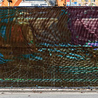 "Photography ""Construction Site Privacy Screen, Left to Our Imagination"" by Hunter Madsen"