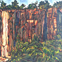 Oil painting Stateline Lookout Cliff by Edward Miller
