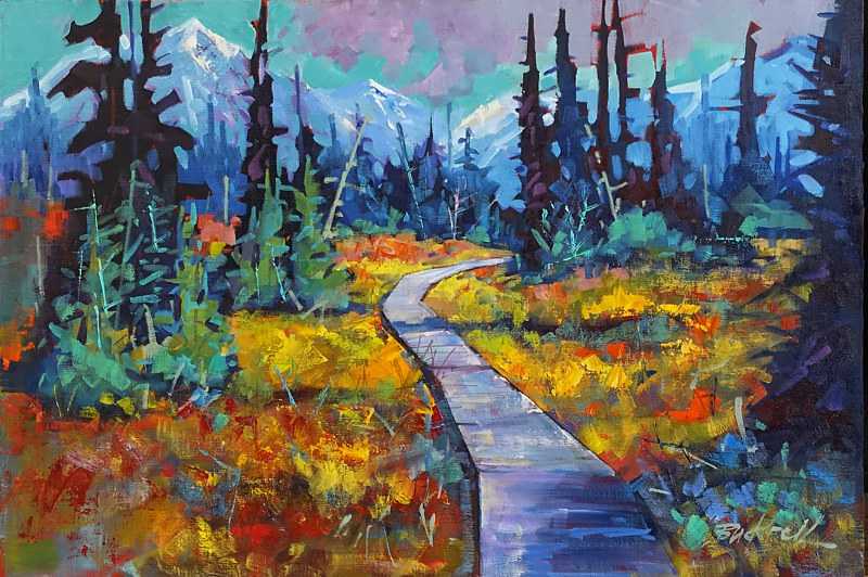 Strathcona Meadows   Oil 20x30 2017 by Brian  Buckrell