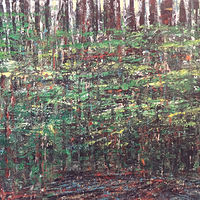 Acrylic painting Deep Forest by David Tycho