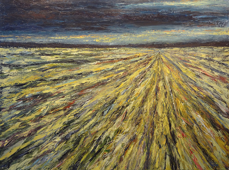 Acrylic painting Prairie Rhapsody No. 2 by David Tycho