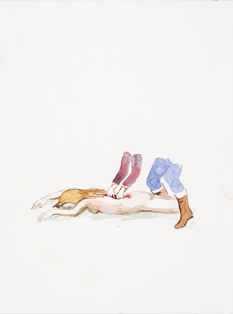 Watercolor Small Brutalities #3 by Mary Hayes