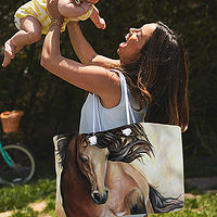 The Galloping Buckskin Weekender Tote bag  by Debbie Hart