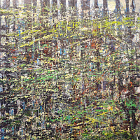 Acrylic painting Forest Rhythms No. 5 by David Tycho