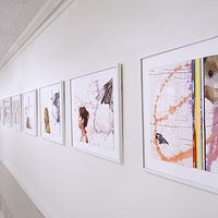 "Some Tales: Nine cross-media works on paper, 30"" x 36"" each by Judy Southerland"