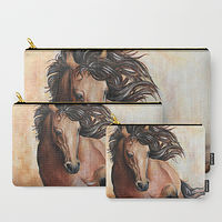 Oil painting Buckskin Pouches by Debbie Hart