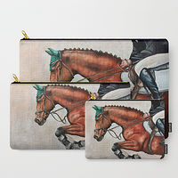 Oil painting Jumper Pouches by Debbie Hart
