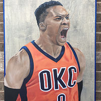 Acrylic painting Russell Westbrook by Stuart  Sampson