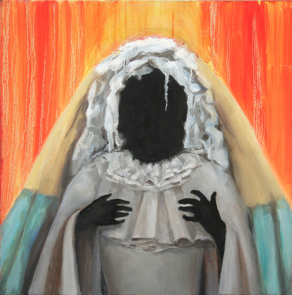 Oil painting Black Madonna by Mary Hayes