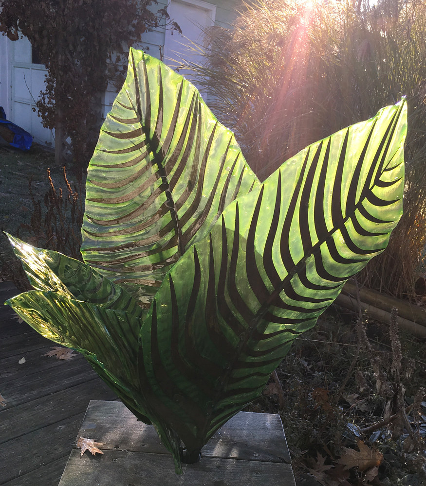 Steel and Fiberglass Leaves (5 of 6 - alt view) by Steven Simmons