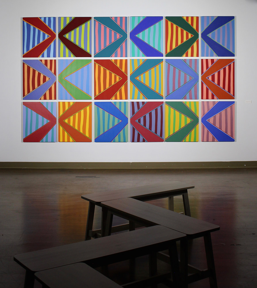 "Oil painting ""Modular Stripe Set"" 2015 - 2017 by Christann Kennedy"