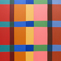 "Oil painting ""Lozenge Lattice"" 2013 by Christann Kennedy"