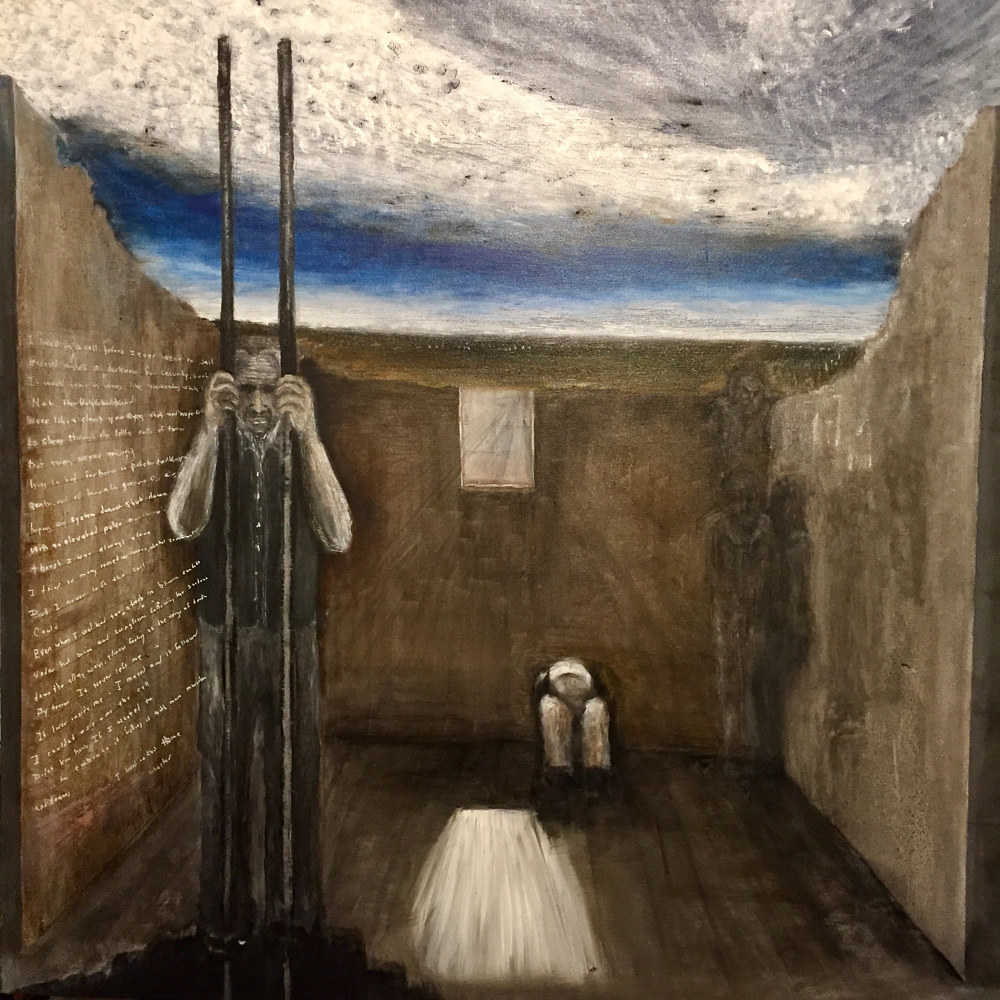 Oil painting Incarceration by Kenneth Raaf