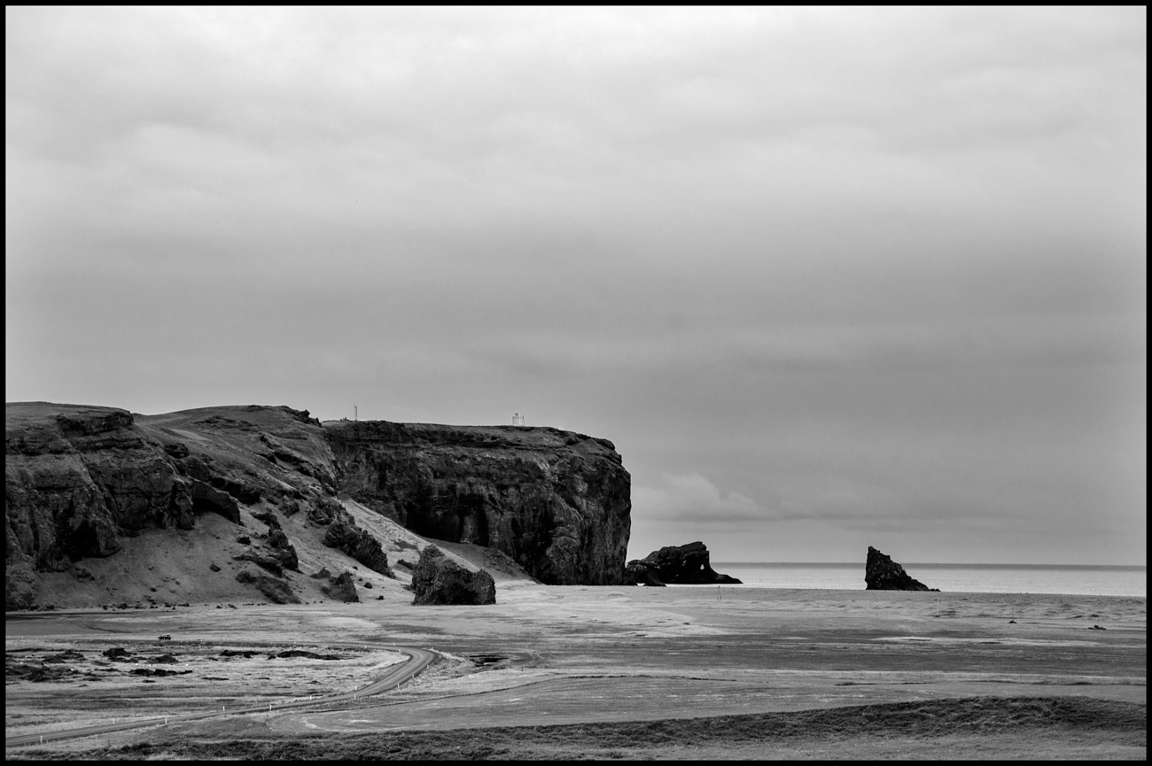AAA_9415 B&W Vik Cliffs & Lighthouse copy by Jim Friesen