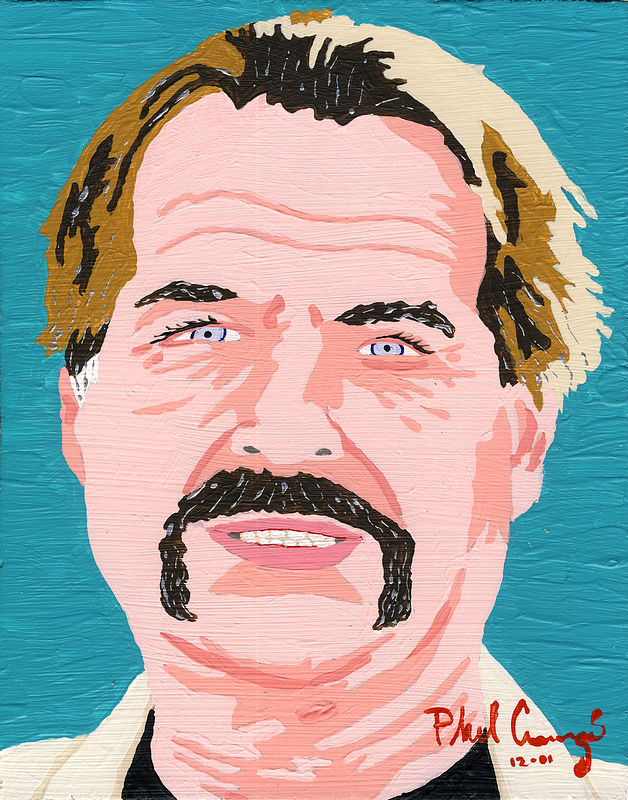 Acrylic painting Pete Cummings (Squeak) by Phil Cummings