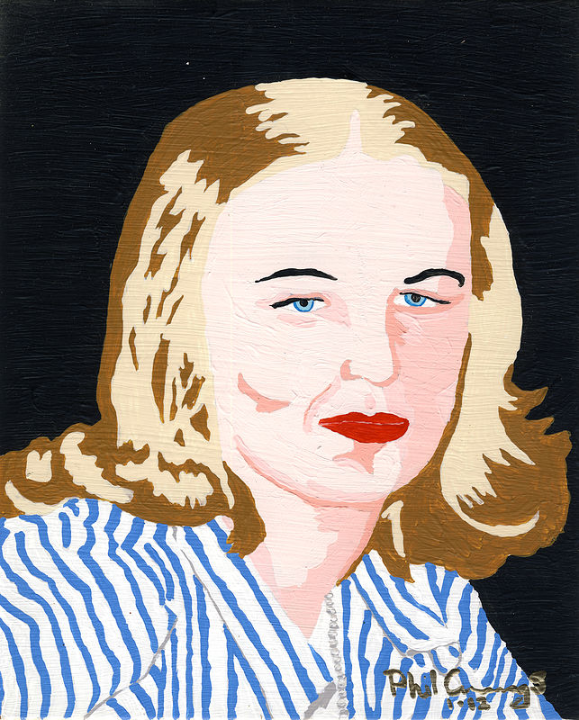 Acrylic painting Loretta Cummings (1942) by Phil Cummings