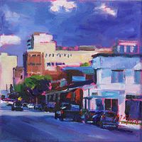 Oil painting clark and fullerton  by Madeline Shea