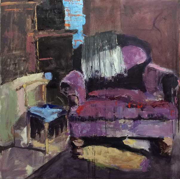 Oil painting Velvet Chair by William Sharp