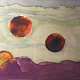 Watercolor Tiny 4x6 surreal landscape watercolor: Floating  by Pamela Neswald